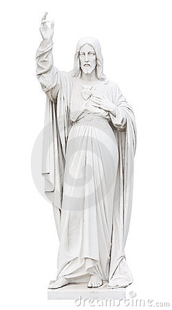 Statue of Jesus  isolated on white