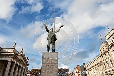 Statue of Jim Larkin. Dublin, Ireland