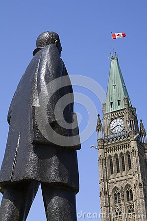 Statue of John Diefenbaker at Parliament Hill