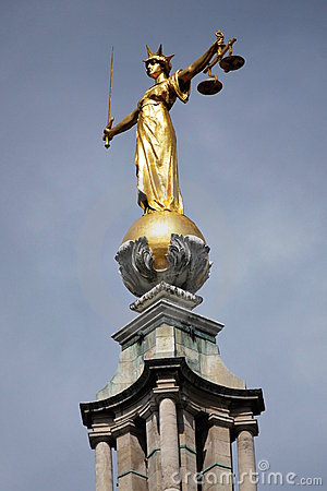 Statue of Justice, Old Bailey, London