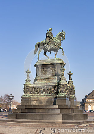 Statue of King Johann (1801-1873) in Dresden