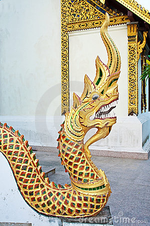 Statue King Of Nagas In Temple Stock Photography - Image: 17362712