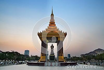 Statue of KingNorodom Sihanouk,Phnom Penh,Cambodia