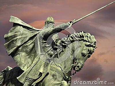 Statue of the knight Cid in Burgos
