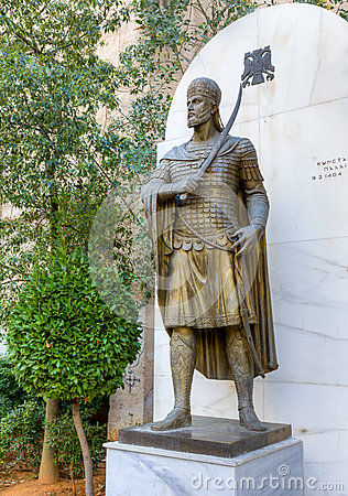 Statue of the last Byzantine emperor Constantine XI Palaiologos