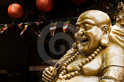 Statue of Laughing Buddha