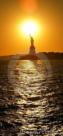 Statue of Libert sunset