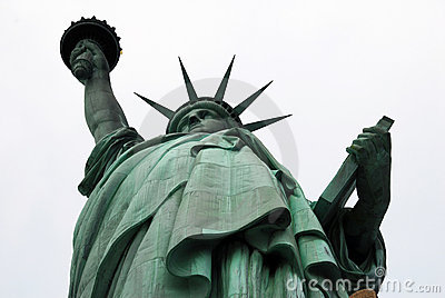 Statue of Liberty at an angle
