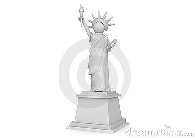 Statue of Liberty Cartoon - 3D Characters