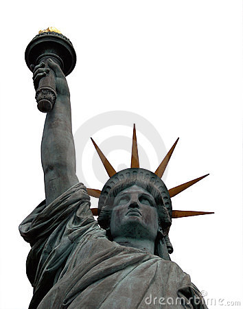 Statue of Liberty, isolated
