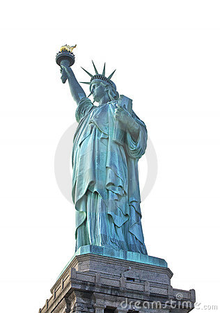 Statue of Liberty in New York City isolated