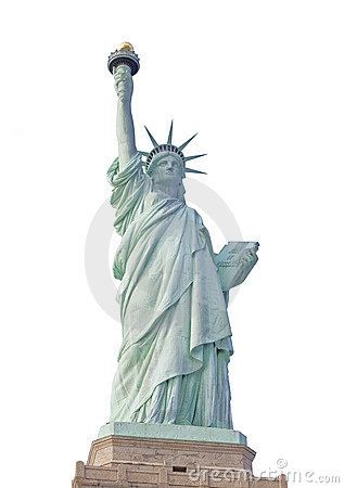 Statue of liberty in new york isolated