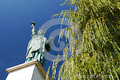 Statue of Liberty, Paris, France. Editorial Stock Photo