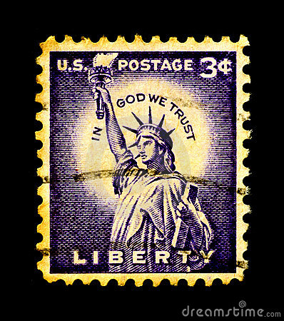Statue of Liberty on USA Stamp