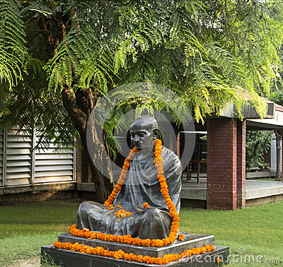 Statue of Mahatma Gandhi Editorial Photography