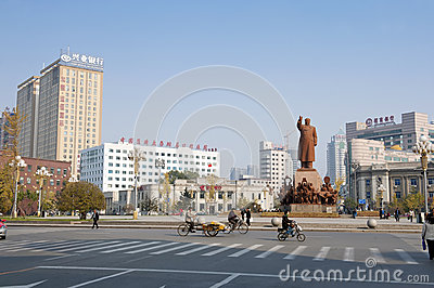 The statue of Mao Zedong Editorial Stock Photo