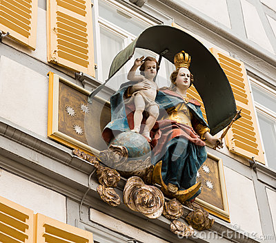 Statue Mary and Jesus Germany