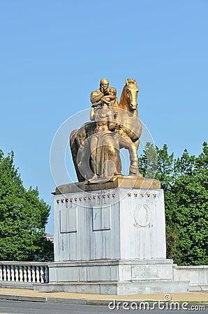 Statue on Memorial Bridge - Washington DC USA