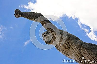 Statue in mirabell garden, salzburg