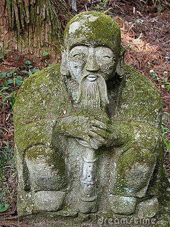 Statue and moss