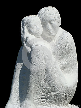 Statue of mother and baby