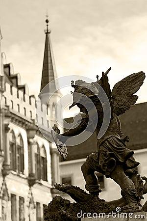 Statue In Munich Stock Image