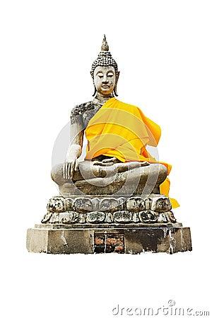 Free Statue Of A Sitting Buddha Stock Photo - 20043010