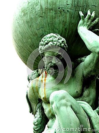 Free Statue Of Atlas Stock Image - 31418841