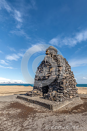 Free Statue Of Bardur Snaefellsnes Of Iceland Stock Images - 91572314