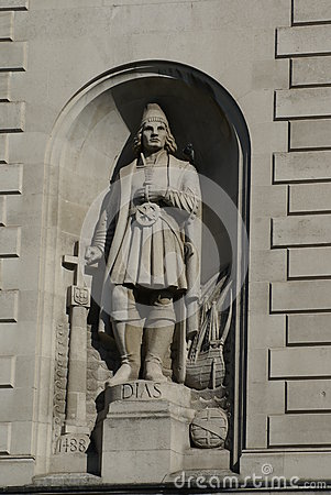 Free Statue Of Bartolomeu Dias At The High Commission Of South Africa In London, England Stock Photos - 68348353