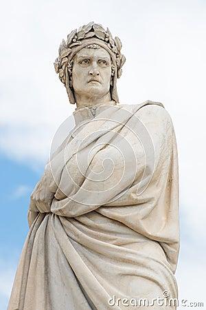 Free Statue Of Dante Alighieri Stock Photography - 58682942