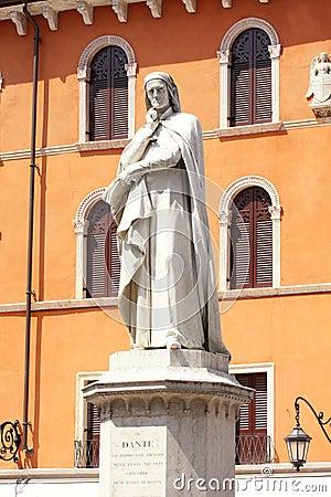 Free Statue Of Dante Alighieri In Verona Stock Image - 9580711