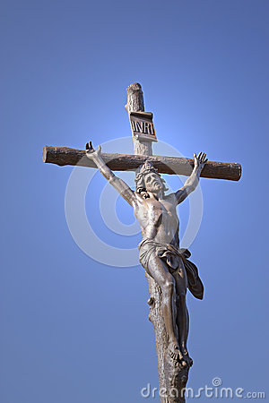 Free Statue Of Jesus Christ On A Cross Stock Photography - 25887692