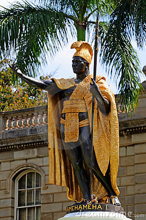 Free Statue Of King Kamehameha, Honolulu, Hawaii Stock Photo - 11243530