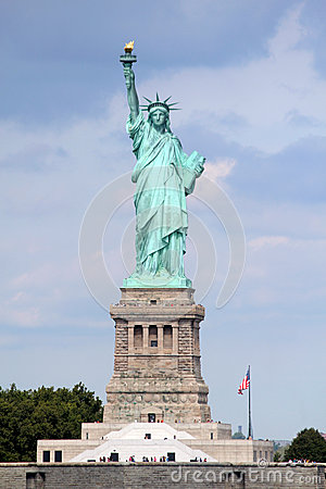 Free Statue Of Liberty Sculpture, On Liberty Island In The Middle Of Stock Photography - 47880422