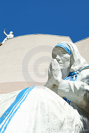 Free Statue Of Mother Theresa Stock Photography - 47571012