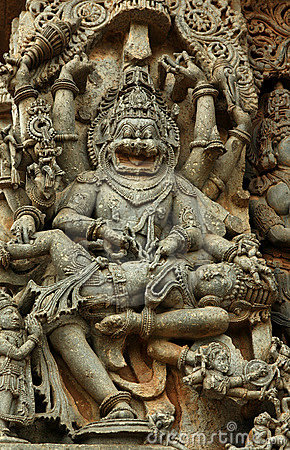 Free Statue Of Narasimha (Halebid, India) Stock Photo - 8911430