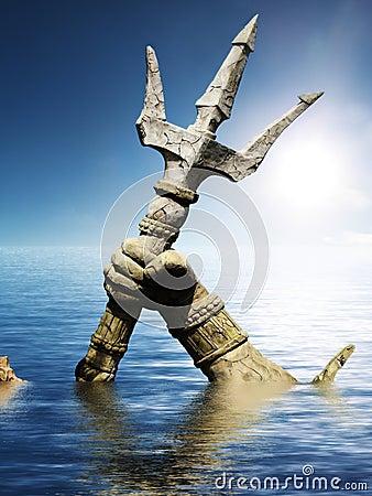 Free Statue Of Neptune Or Poseidon S Arm Stock Photo - 31434070
