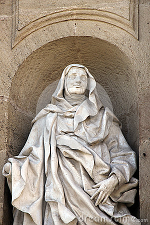 Free Statue Of Saint Anne, Baroque, Marble, Mantle Royalty Free Stock Image - 51574266