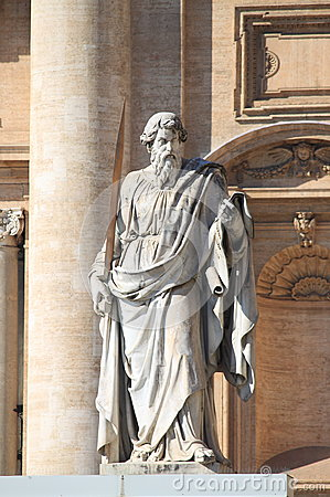 Free Statue Of Saint Paul The Apostle Stock Photo - 25892410