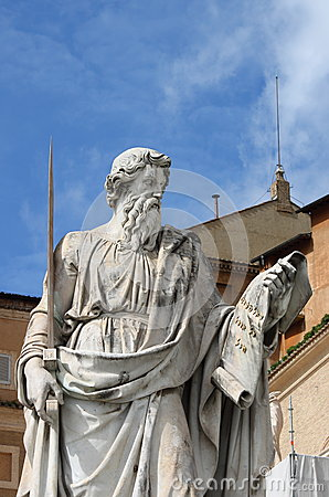 Free Statue Of Saint Paul The Apostle Royalty Free Stock Image - 51154016