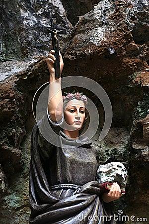 Free Statue Of Santa Rosalia, Painted Wood Stock Photos - 45494063