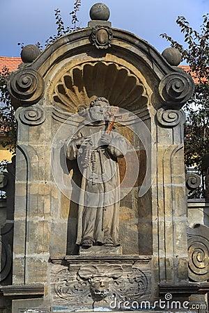 Free Statue Of The Saint Near Kloster Michelsberg (Michaelsberg) In B Royalty Free Stock Photos - 47525958