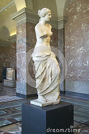 Free Statue Of Venus De Milo (Aphrodite), Greece, Ca. 150-125 BC At The Louvre Museum, Paris, France Royalty Free Stock Photo - 52317575