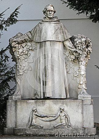 Free Statue Of World Famous Scientist Gregor Johann Mendel Stock Photos - 72358693
