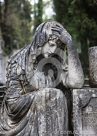 Free Statue On Grave In The Old Cemetery Stock Photos - 50530183