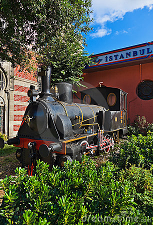 Statue of orient express at Istanbul Turkey