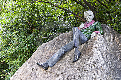 Statue of Oscar Wilde Editorial Image