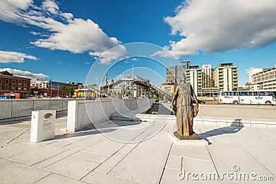 Statue at Oslo Opera Editorial Stock Photo
