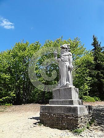 Statue of Pagan God Radegast in B